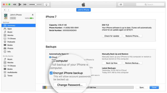 iPhone バックアップファイルの暗号化パスワードを忘れたら