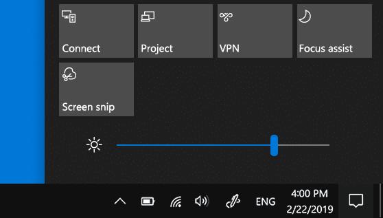 明るさ調整バーがなくなった!?Windows10 障害?